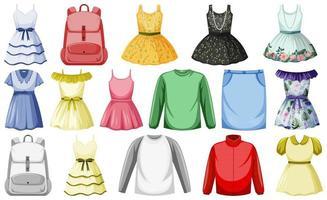 uppsättning kläder håna upp vektor