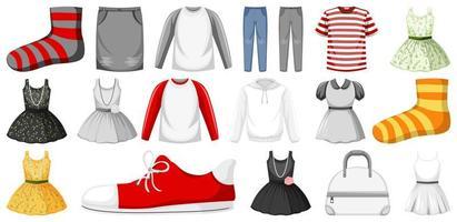 Satz Kleidung verspotten
