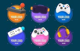 bunte Gaming-Logo-Sammlung vektor