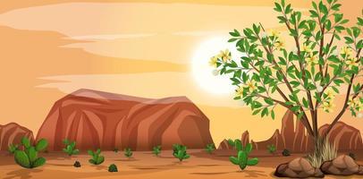 vilda ökenlandskap på dagtid scen vektor