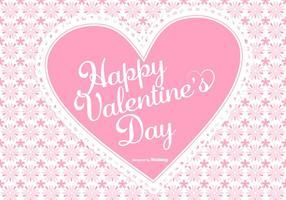 Söt rosa Alla hjärtans dag Bakgrund vektor
