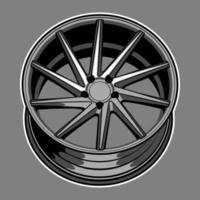 bilhjul ritning
