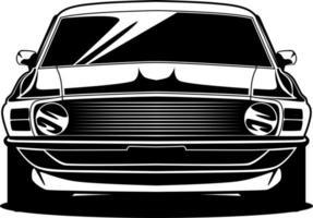 Schwarzweiss-Autofrontzeichnung vektor