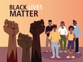 schwarze Leben sind wichtig mit Fäusten