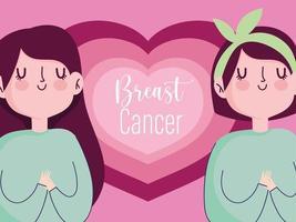 tecknad kvinnors hälso- och livskampanj vektor