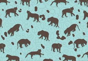 Tiger silhuett mönster vektor