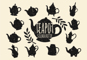 Vintage Teekanne Silhouette Vektor