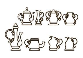 Einfache Teekanne Vektoren