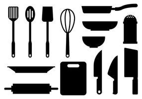 Fri Cocina ikoner Vektor