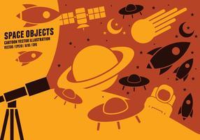 Space Objekt Ikoner vektor