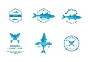 Makrelen-Logo-Entwurf vektor