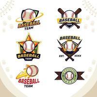 djärv sportig basebollagslogotyp