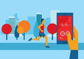 Herzfrequenz-Apps Free Vector