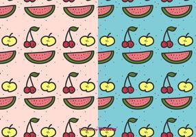 Tecknad frukt mönster vektor