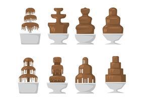 Schokoladen-Brunnen-Icons vektor