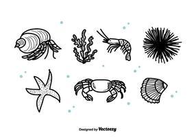 Sea Life Set Vektor