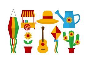 Freie Festa Junina Vektor-Icons