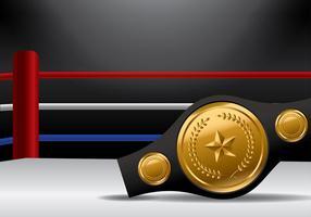 Championship Gürtel auf Boxring Vektor