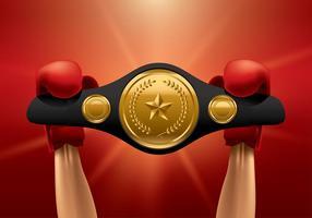 Winner mästerskapet Belt vektor