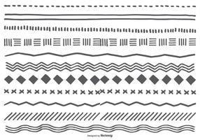 Söt Hand Drawn Sketchy gränser vektor