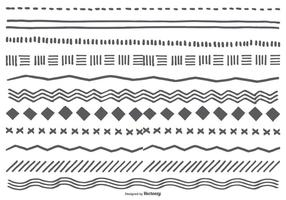 Söt Hand Drawn Sketchy gränser