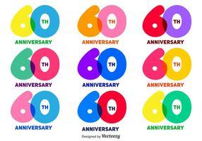 60. Jahrestag Vector Abzeichen