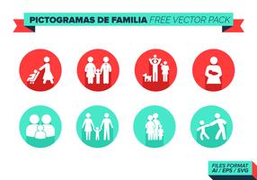 Pictogramas de Familia Free Vector-Pack vektor