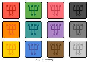 Gangschaltung Vektor-Icons