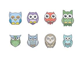 Cute Owl Icon Pack