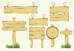 Holz-Blanko-Banner-Vektor-Zeichen vektor