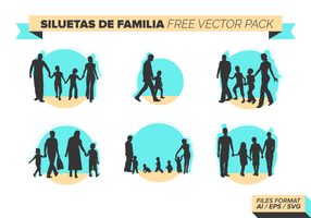Siluetas De Familia Free Vector-Pack vektor