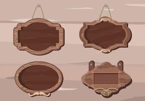 Holz Vintage-Rahmen-Zeichen-Fahne Vektor