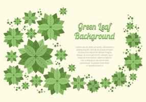 Elegante grüne Blatt-Hintergrund vektor