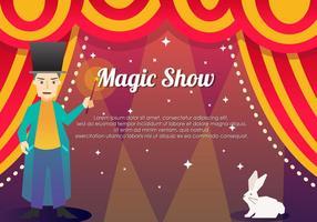 Magic Show-Schablonen-Hintergrund vektor