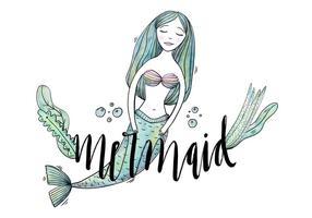 Kostenlose Mermaid Charakter vektor