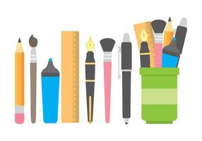 Stifthalter mit Briefpapier Icons