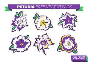 Petunia Kostenlose Vector Pack
