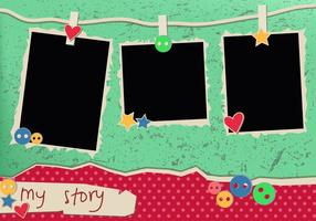 My Story Jahrgang Polaroid Frames vektor