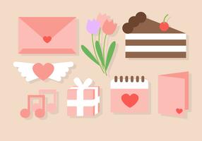 Netter Valentinstag-Liebes-Elemente Vektor
