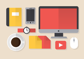 Kostenlose Office-Elemente Vektor