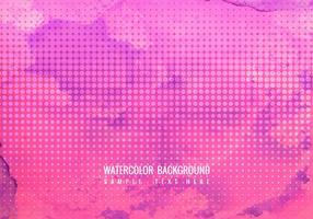 Gratis Vector Rosa vattenfärg bakgrund med halvton