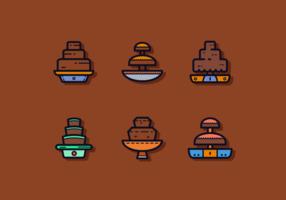 Freie Schokoladen-Brunnen-Vektoren vektor
