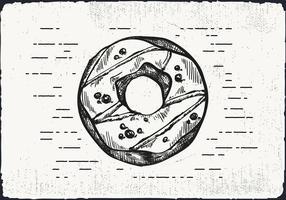 Freie Hand Drawn Donut Hintergrund vektor