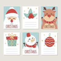 handgezeichnete niedliche Weihnachtskarten