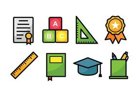 Bildung Icon Set vektor