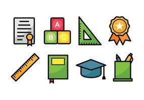 Utbildning Icon Set vektor