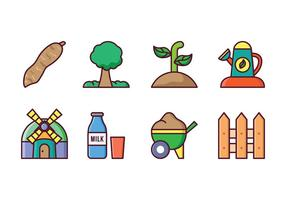 Landwirtschaft Icon Set vektor
