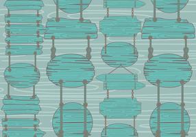 Teal Holz-Vektor-Zeichen Madeira Muster