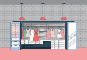 Modern Omklädningsrum med elegant stil Vector