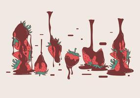 Chocolate Covered Strawberry Vektoren